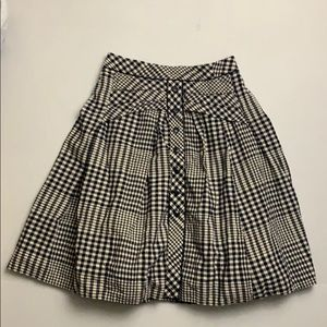 Odille Navy Gingham Weave The Ring Skirt size 0/25